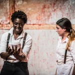 Viv Acheampong and Fran Binefa in Titus Andronicus (photo: Danial Harris)